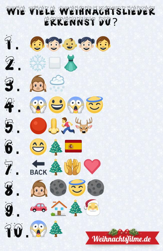 Wie viele Emoji-Weihnachtslieder erkennst du?